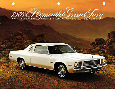 Plymouth Gran Fury 1976 Brochure Features & Benefits Color Photos Specs Options