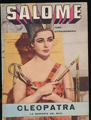 ELIZABETH TAYLOR as CLEOPATRA Cover of SALOME No. 4 1963 Argentinian Comic Book
