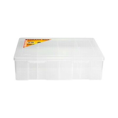 1H098 8 Compartment Storage Box Large Extra Deep Plastic Case 9311231125044   8