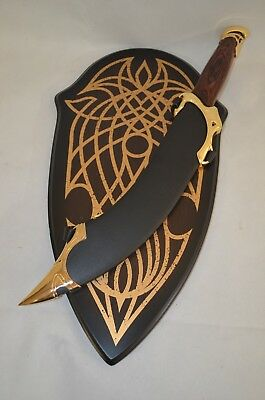 Lord Of The Rings Elven Dagger of Strider( Aragorn) Leather Scabbard Wall Plaque