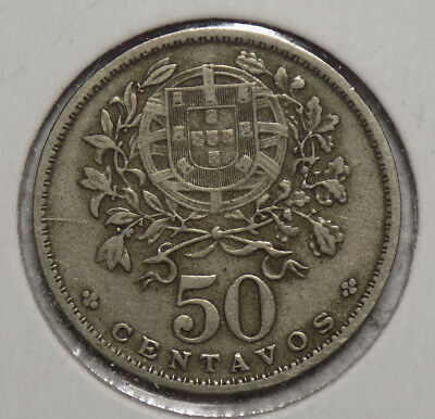 Portugal 1938 50 Centavos Coin - KEY DATE!!!