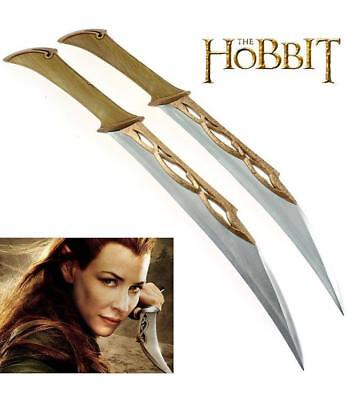 Hobbit Lord Of The Rings Fighting Knives Of Tauriel Dagger With Plaque