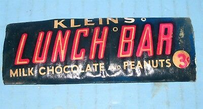 Kleins Lunch Bar EARLY 3¢ Bar of Wrapped Chocolate FULLY INTACT Elizabethtown PA