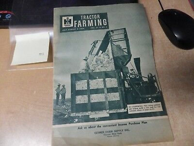 Vintage Tractor Farming Magazine Catalog May July 1954 International Harvester