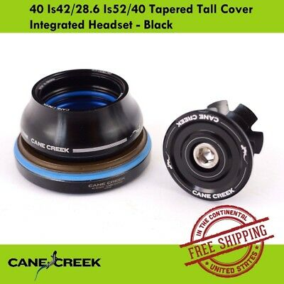Cane Creek  40 Is42/28.6 Is52/40 Tapered Tall Cover Integrated Headset - Black