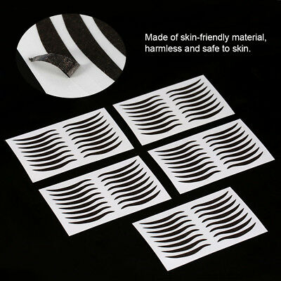 40Pairs Black Eye Lift Strips Double Eyelid Tape Adhesive Stickers Makeup Tool