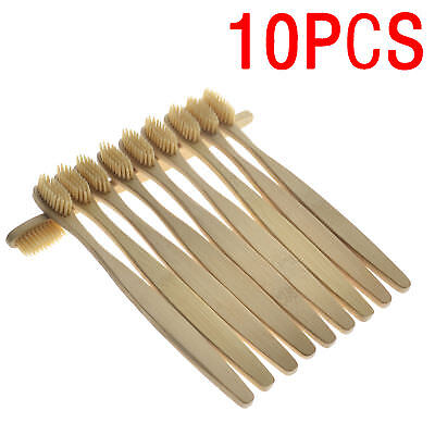 10Pcs Oral Care Durable Toothbrush Bamboo Environmental Soft Teeth Brushes