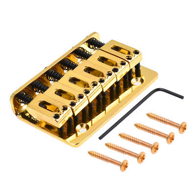 6 String Electric Guitar Bridge Hard Tail Top Load Gold Fixed Hard Tail Parts