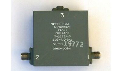 Teledyne Microwave isolator T-2S63A-3 (lot of 3)