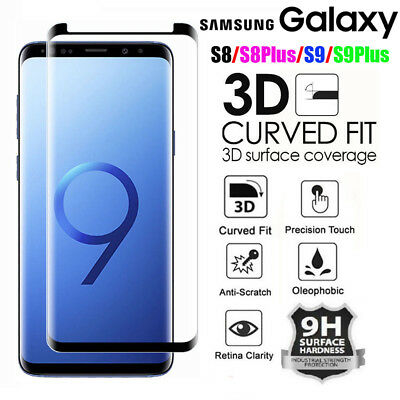3D Tempered Glass Screen Protector Guard For Samsung Galaxy S9/S8/Plus/Note 8