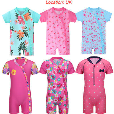 UK Warehouse Toddler Baby Girl UV50+ Rashguard Swimsuit Swimming Beachwear 6M-3Y