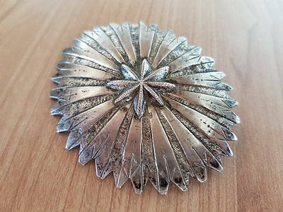 MAGNIFICENT ANTIQUE jewelry Ottoman belt buckle handmade silver alloy 19th cent.