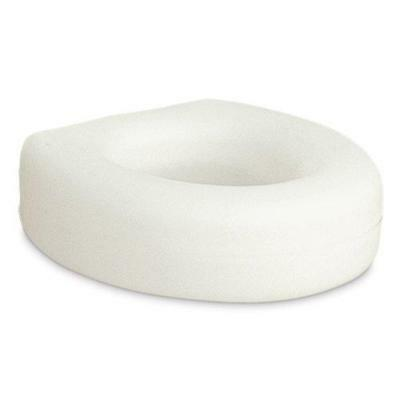 Raised Toilet Seat Elevated Elongated Portable White Safety Padded Medical Riser