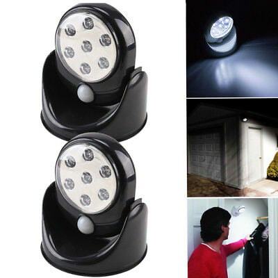 360° 7 Led Motion Sensor Cordless Security Wall Light Shed  Door  Cupboard