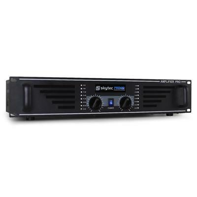 "Skytec Pa 480W Disco Pa Amplifier Karaoke Party Hifi Stereo Amplifier 19"" Rack"