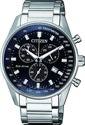 Citizen Eco-Drive Herrenuhr Solar Chronograph AT2390-82L, Solaruhren Fliegeruhr