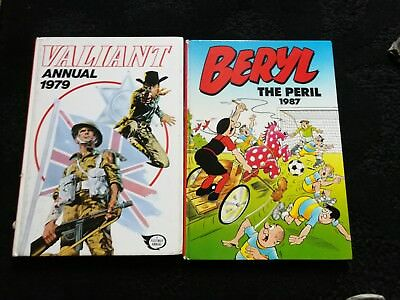 beryl the peril annual 1987 and valiant annual 1979