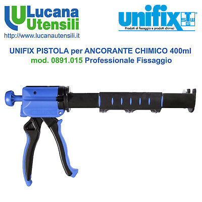 UNIFIX PISTOLA ANCORANTE CHIMICO tubo 400ml mod 0891.015 Professionale Fissaggio