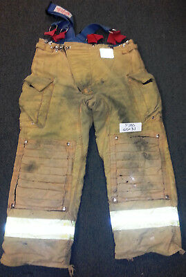 40x31 Pants Firefighter Turnout Bunker Fire Gear Morning Pride + Suspenders P780
