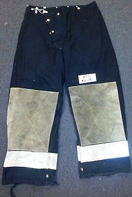 34x31 Firefighter Pants Bunker Fire Turn Out Gear Black Morning Pride  P771