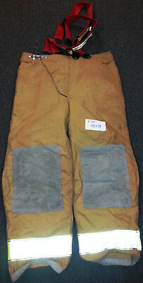 40x30 Pants with Red Suspenders Firefighter Turnout Bunker Fire Gear Globe P715