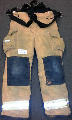 40x36 Pants with Suspenders Firefighter Turnout Bunker Fire Gear Fire-Dex P730