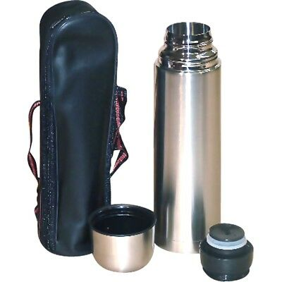 1.0Ltr small bullet Thermos flask stainless steel inner vacuum bag handle strap