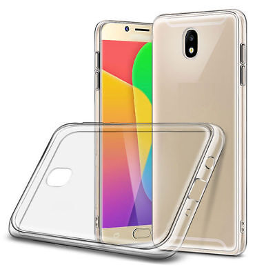 For Samsung Galaxy j3 j5 j7 2017 Clear Slim (Soft TPU) Silicone Back Case Cover/