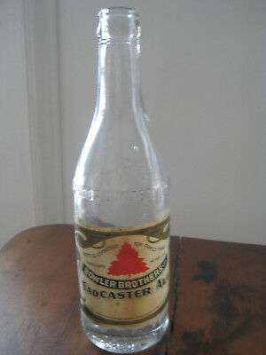 BOWLER BROTHERS TADCASTER ALE Worcester Mass MA Beer Bottle w/ label