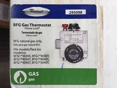 NEW WHIRLPOOL 295098 Thermostat BFG Natural Gas Flame Lock w/ free shipping