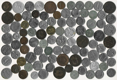 95 OLD ITALY COINS (LATE 1800's to MID-1900's) SEE PICTURES >>> NO RESERVE