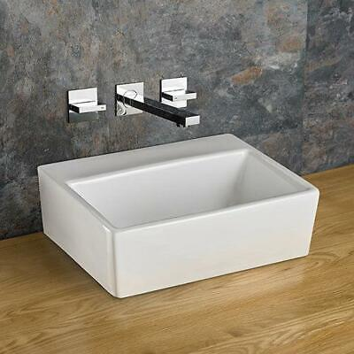 Countertop Counter White Ceramic Bathroom Basin Sink 38.5cm by 30cm No Tap Hole