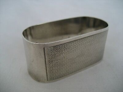 Solid Silver Oval Napkin Ring.