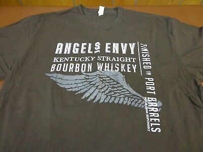 ANGEL'S ENVY BOURBON  WHISKEY Brown T Shirt Size Large  Tee    I7