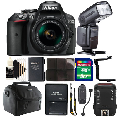 Nikon D5300 24.2MP DSLR Camera w/ 18-55mm Lens, Speedlight Flash & Accessory Kit