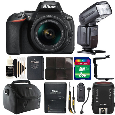 Nikon D5600 24.2MP DSLR Camera w/ 18-55mm Lens, Speedlight Flash & Accessory Kit