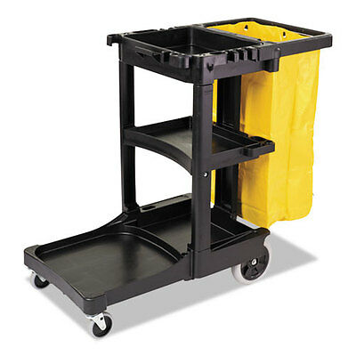 Rubbermaid Commercial Multi-Shelf Cleaning Cart Three-Shelf 21-3/4w x 46d x 38-3