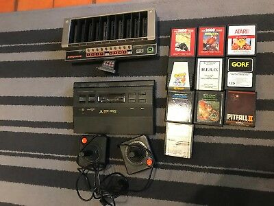 Atari 2600 Black Console With 2 Joystick + 10 Games + Romscanner vga/10