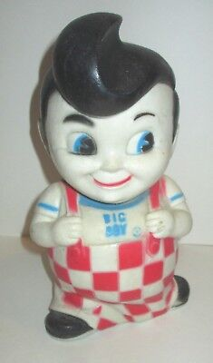 "Vintage Bob's Big Boy Restaurant 9"" Advertising Character Mascot Vinyl Coin Bank"
