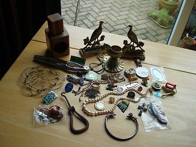 Job Lot Of Antique,vintage And Some New Items.gold Plated Collectables Clearance
