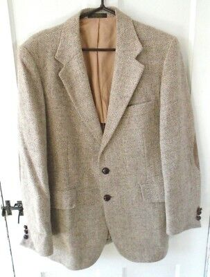 8c3297a8faa1 VTG HARRIS TWEED Men s Brown Herringbone Sport Coat Blazer Size 40R ...