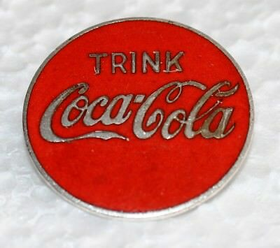 Coca-Cola emailliertes Uniform Abzeichen Anstecker 1950's buttom for uniform