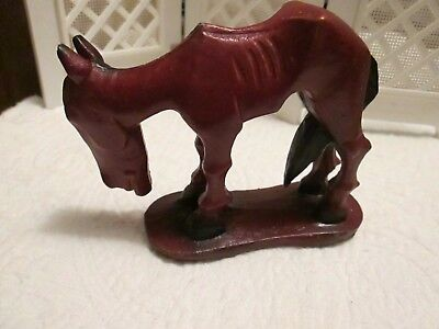 Vintage 1950's ORIGINAL Skinny Hungry Horse Figurine © Blake The Woodcarver