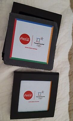 NEW Coca-Cola 2018 Pyeongchang Olympic Slate Coasters Set Limited Edition Coke