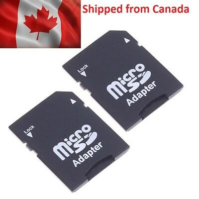 2 Pack Micro SD TransFlash TF to SD SDHC Memory Card Adapter SD Card Converter