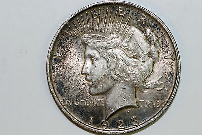 About Uncirculated 1923 P 90% Silver Peace Dollar (PDX1046)