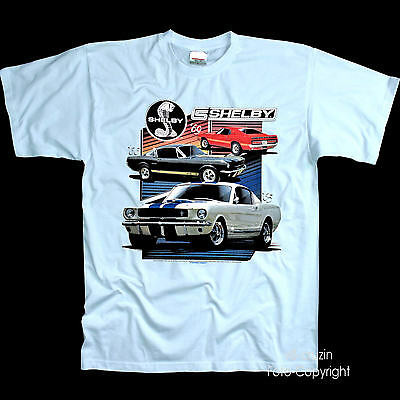 Shelby VINTAGE Licencia FORD MUSTANG 60s Classic musclecar Auto Camiseta 0189