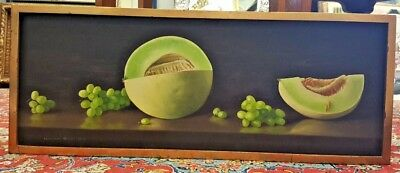 Randolph Brooks 1961 Oil Painting On Canvas Of Still Life After Fruits