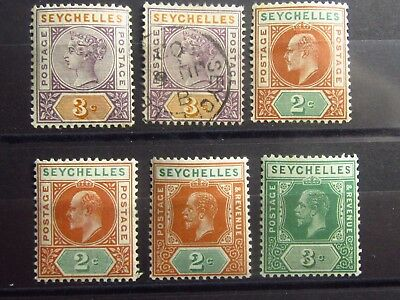 SEYCHELLES British Colonies Old Stamps - Mint MH / MNH - Signed - VF- r47e5447