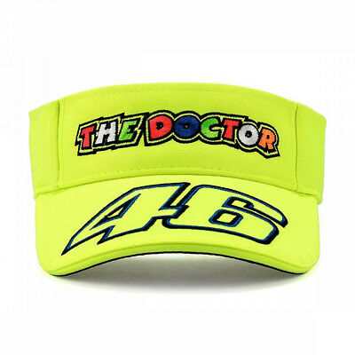 Valentino Rossi VR46 Moto GP The Doctor Sun Visor Yellow Official 2019